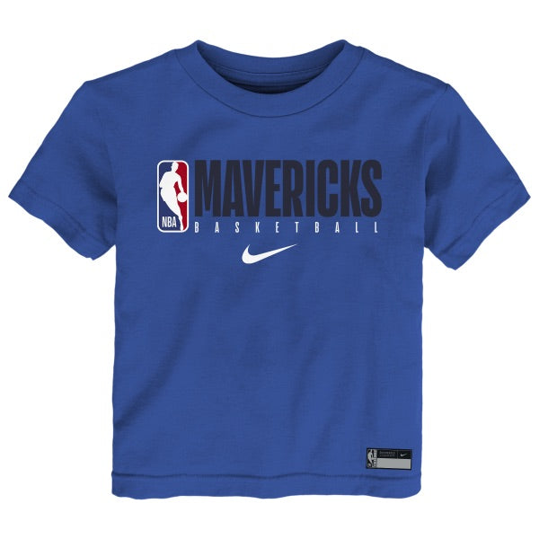 DALLAS MAVERICKS NIKE TODDLER ROYAL PRACTICE TEE