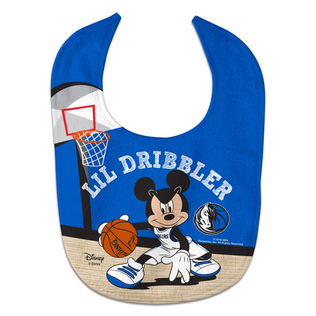 DALLAS MAVERICKS MICKEY MOUSE BABY BIB