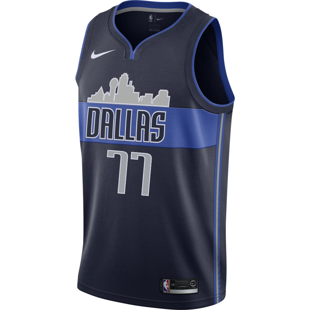 DALLAS MAVERICKS LUKA DONCIC MENS NIKE STATEMENT SWINGMAN JERSEY