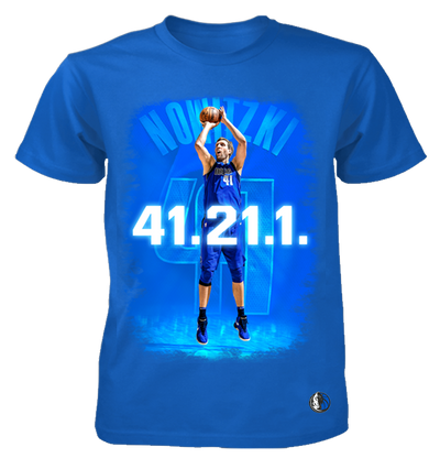 DALLAS MAVERICKS DIRK 41.21.1 YOUTH ROYAL TEE