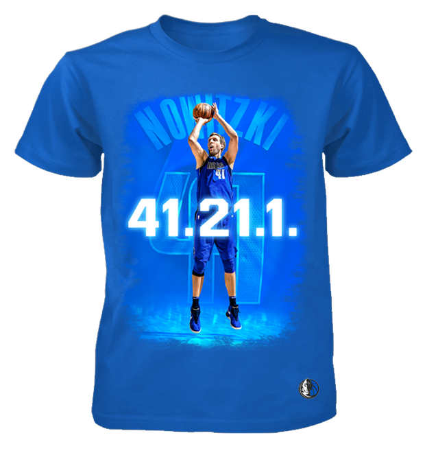 DALLAS MAVERICKS DIRK 41.21.1 YOUTH ROYAL POSTER TEE