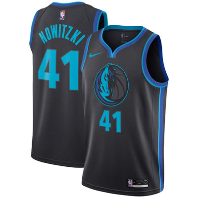 DALLAS MAVERICKS YOUTH CITY EDITION DIRK SWINGMAN JERSEY