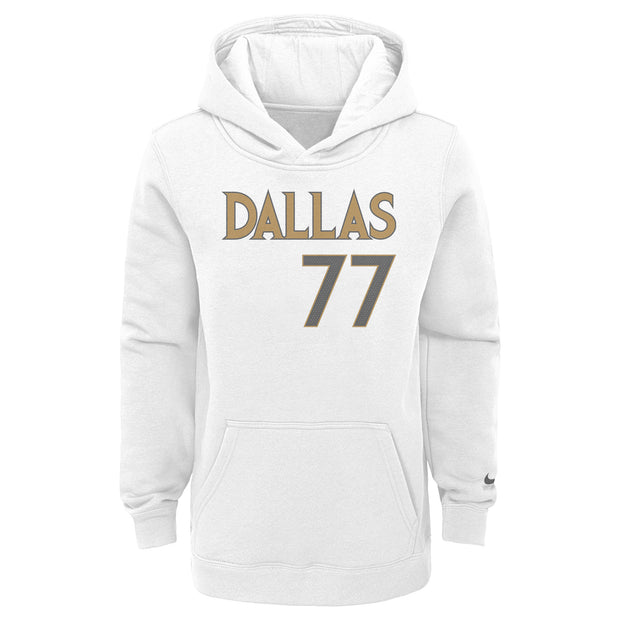 DALLA MAVERICKS YOUTH NIKE LUKA DONČIĆ 20-21 CITY EDITION NAME & NUMBER HOODIE