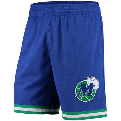 DALLAS MAVERICKS MITCHELL & NESS 1998 BLUE HARDWOOD CLASSICS SWINGMAN SHORT