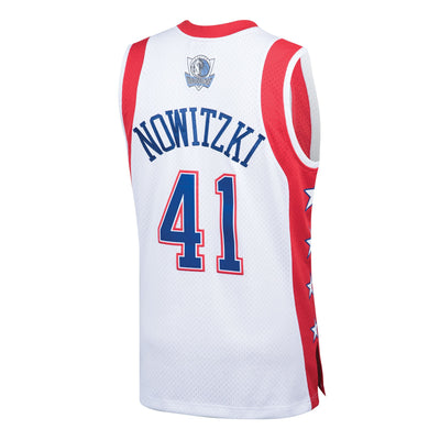 DALLAS MAVERICKS MITCHELL AND NESS 2004 DIRK NOWITZKI ALL STAR JERSEY