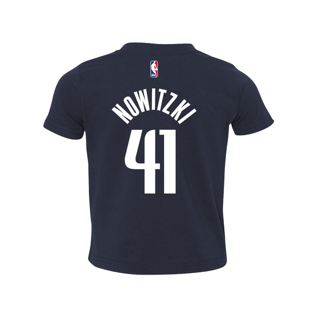 DALLAS MAVERICKS TODDLER NOWITZKI STATEMENT NAME & NUMBER TEE