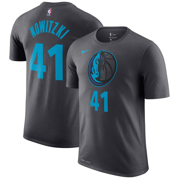 DALLAS MAVERICKS YOUTH CITY EDITION DIRK N&N TEE