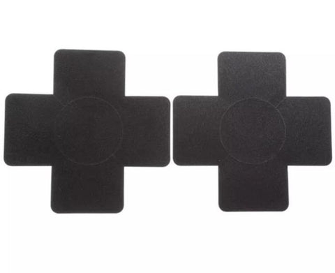 Black cross nipple covers