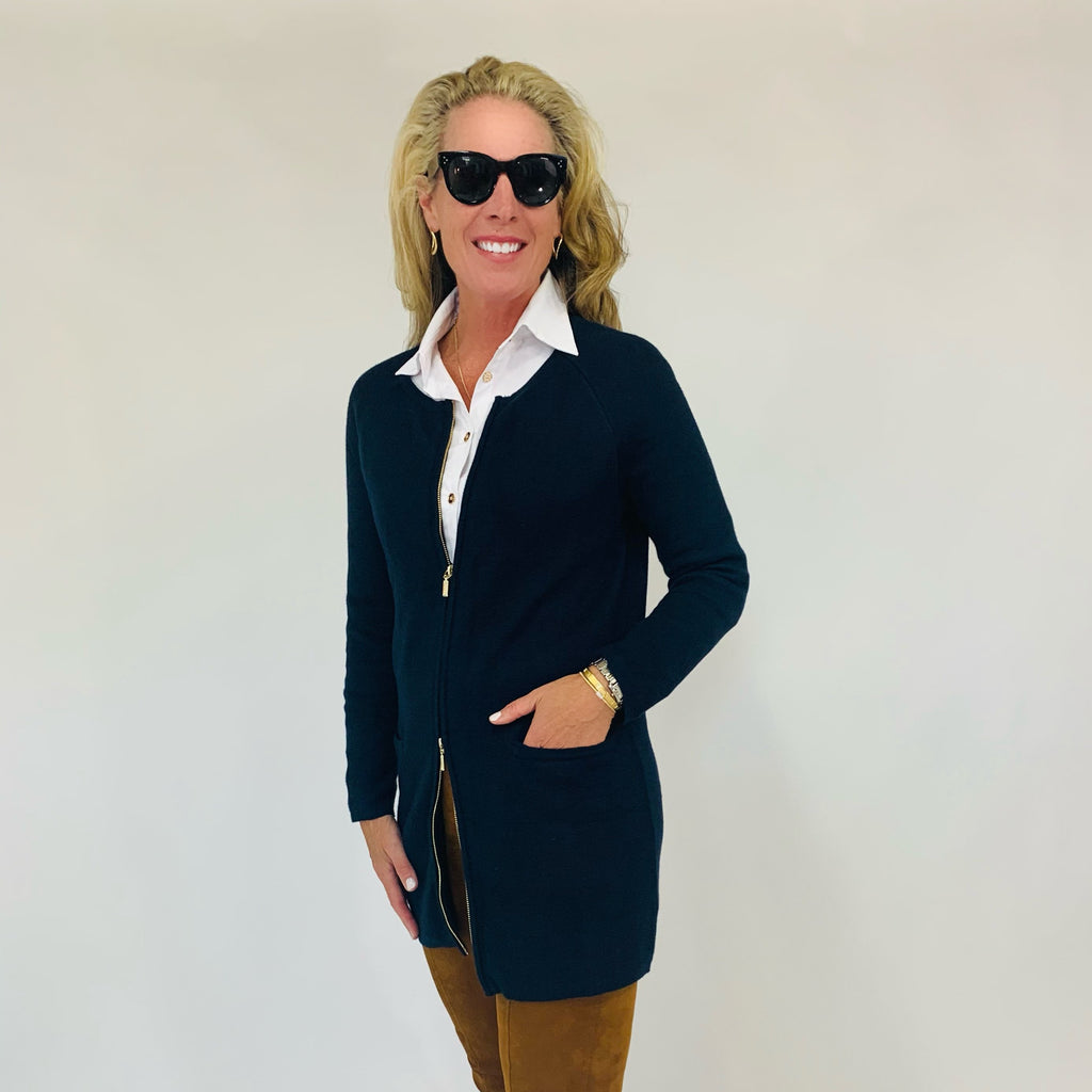 The Margaux Jacket- Neat Navy