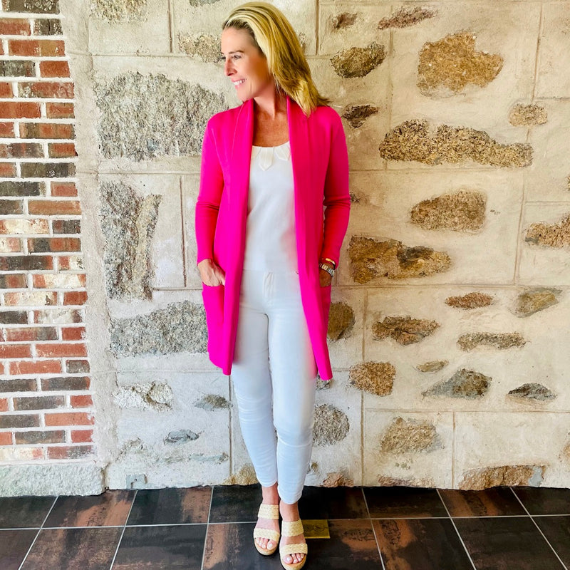 The Travel Coat- Shock Pink