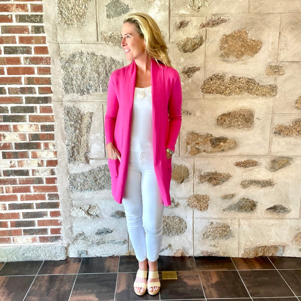 The Light Weight Travel Coat- Shock Pink