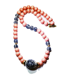 Coral Chinoiserie Necklace