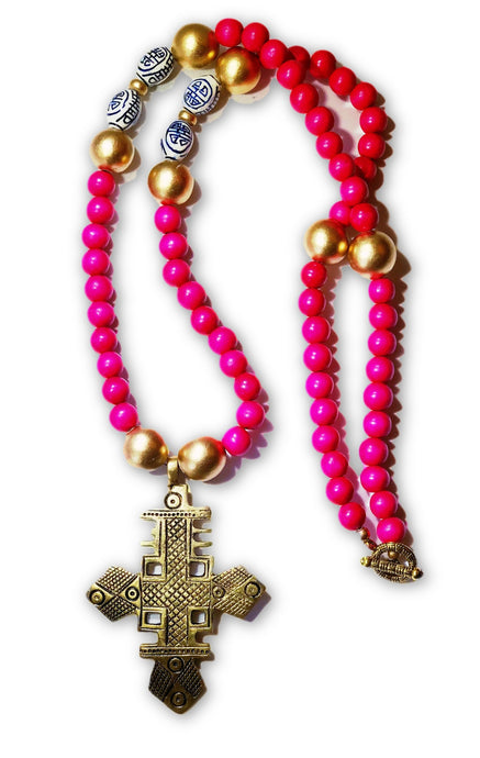 Gold Coptic Cross Necklace