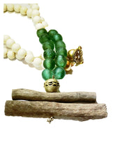 Load image into Gallery viewer, Green Glass and Driftwood Necklace
