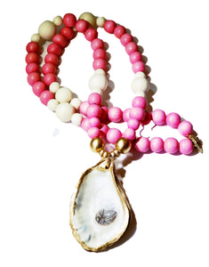 French Rose Savannah Oyster Necklace