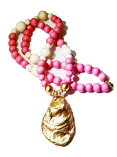Load image into Gallery viewer, Rose Pink and Gold Oyster Necklace