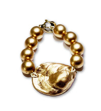 Load image into Gallery viewer, Gold Oyster Bracelet