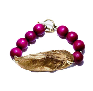 Magenta Savannah Oyster Bangle