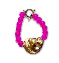 Load image into Gallery viewer, hot pink oyster bracelet