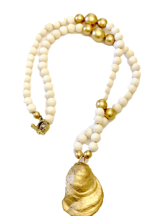 Cream Savannah Oyster Necklace