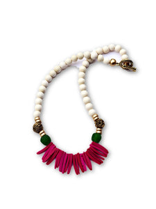 Pink Sea Grass Necklace - Child