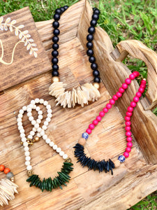 Pink and Navy Coconut Grass