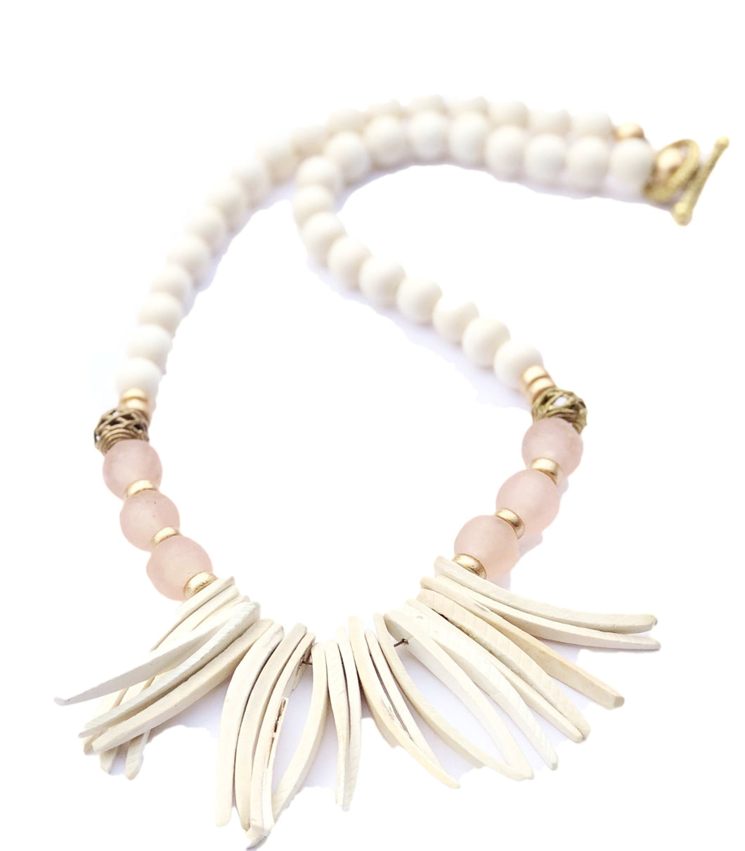 Rose Sea Grass Necklace