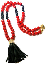 Load image into Gallery viewer, Red and Black UGA Spirit Necklace