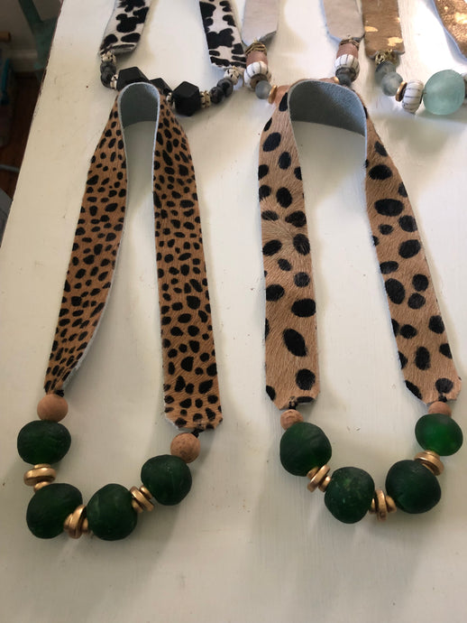 Emerald Leopard Hair on Hide