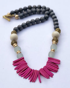 Wood Fringe Necklace