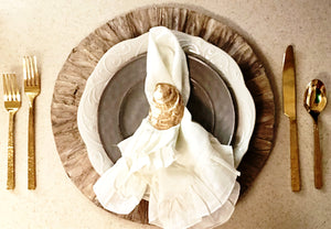 Oyster Napkin Rings Gold