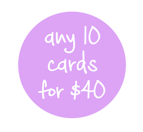 Any 10 cards for $40