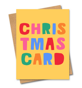Christmas Card Yellow