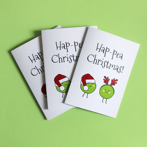 Pack of 3 - Hap-pea Christmas