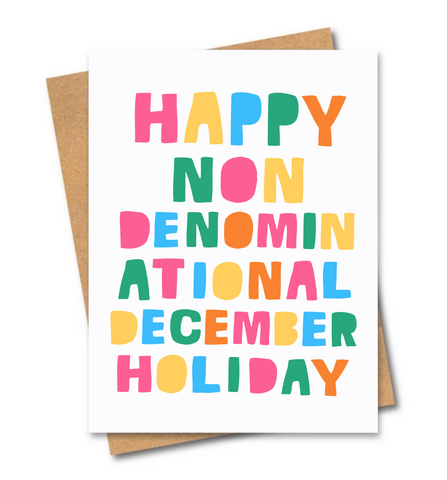 Non denominational card