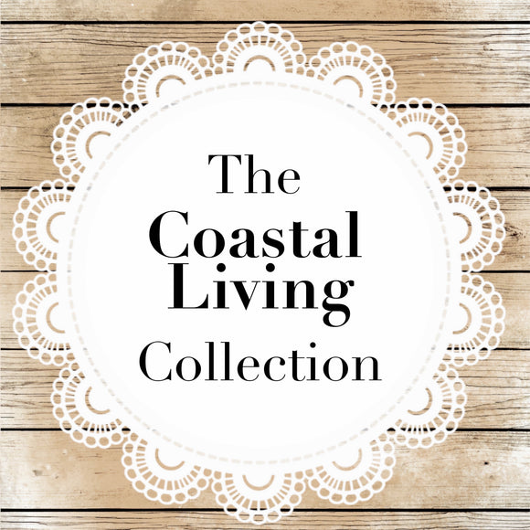 Coastal Living Collection featuring neutral colors, grays, and whites inspired by the beach