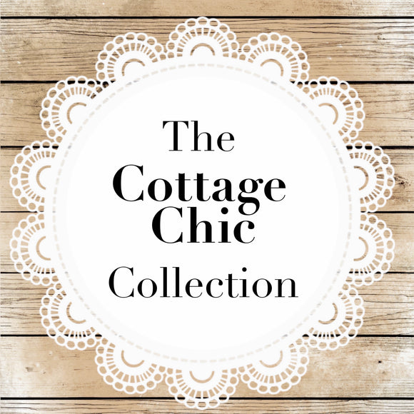 Cottage Chic Collection featuring shabby chic colors & distressed finishes