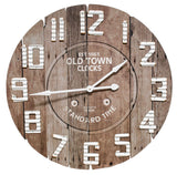 Very large clocks, Rustic farmhouse clocks, Brown wood clock, JaBella Designs, Fixer Upper style, Pottery Barn style, Decorating, Murfreesboro