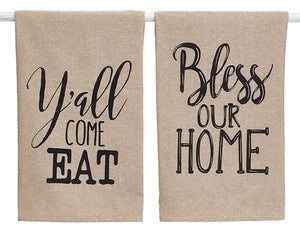 Southern style country farmhouse tea towel set