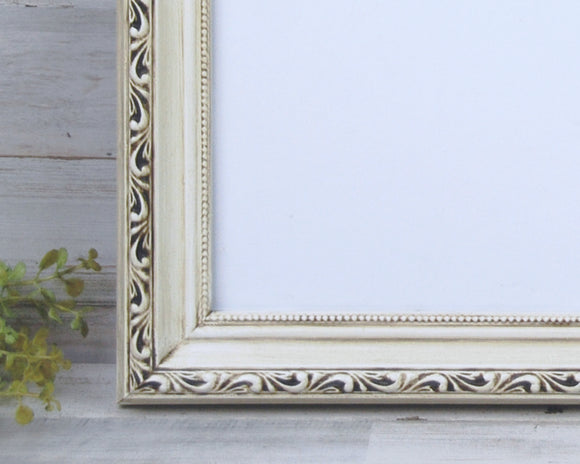 Ornate Picture Frames, Antique White, Off White, Ivory, Wood Frames, Photo Frames, Wall Gallery Frames, 11x14 Wood Frames, Vintage Style, Shabby Chic, JaBella Designs, Home Decor, Made in the USA