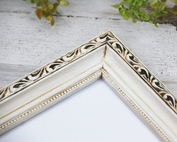 Antique White Frames, Ornate Wood Frames, Shabby Chic Frames, Farmhouse Wall Decor, Ornate Photo Frame, Painted Picture Frame, Wall Gallery Frames, JaBella Designs, Etsy, Fixer Upper Style