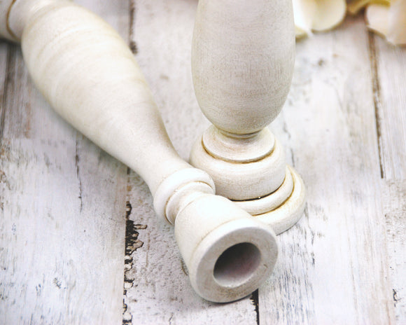 Antique White, Candlesticks, Candle Holders, Taper Candle Holders, Spindle Candlesticks, White Candle Holders, Wooden Candlesticks, Painted Candlesticks, Farmhouse, Cottage Chic, Shabby Chic, Fixer Upper Style, JaBella Designs, Home Decor, Etsy