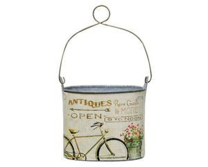 Small antique-theme bicycle container