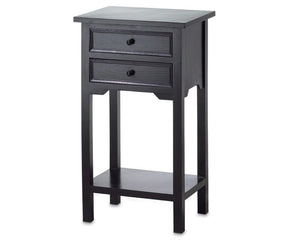 Black table, Country farmhouse side table, Table with drawers, Bedside table, Fixer Upper style, JaBella Designs, Home decor, Murfreesboro