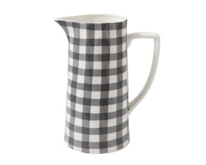 Buffalo plaid pitcher, Black buffalo check serve ware, Gingham pitchers, Country farmhouse kitchen, Holiday decor, JaBella Designs