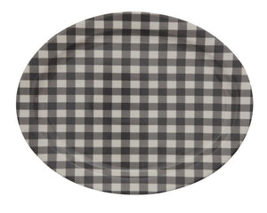 Black buffalo plaid platter, Black gingham platter, Buffalo check serving tray, Farmhouse home decor, Country kitchen decor, JaBella Designs
