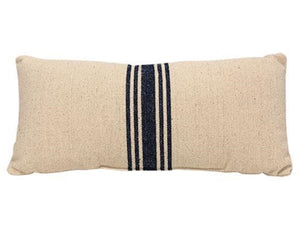 Pillows, Grain sack pillow, Navy blue, Farmhouse pillow, Lumbar pillow, Decorative blue pillows, Pillow for the home, Fixer upper style pillows, Pottery Barn style, The Faded Farmhouse, Vintage Farmhouse Finds style, JaBella Designs, Tennessee, Made in the USA