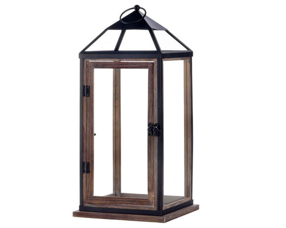 Black Lantern, Wood Lantern, Candle Lanterns, Rustic Lantern Decor, Candle Holders, Farmhouse, Home Decor, JaBella Designs, Fixer Upper Style, Online Home Decor Store