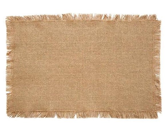 Burlap placemats, Fringe placemats, Natural tan, Dining table decorations, Farmhouse tablescapes, Rustic home decor, Kitchen accessories, Dining and entertaining, JaBella Designs, Fixer Upper style