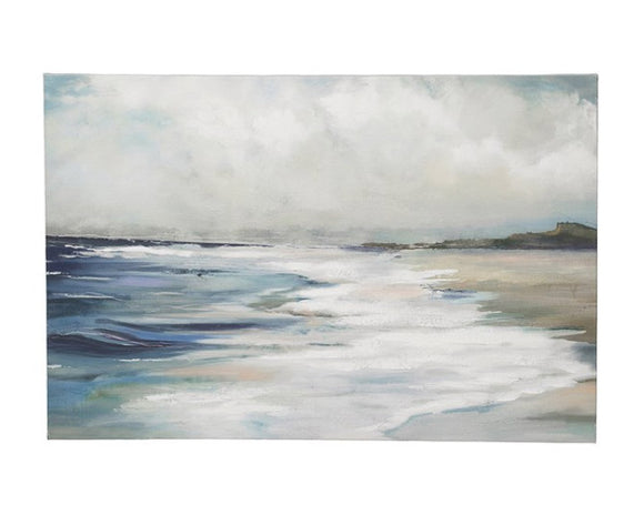 Coastal beach painting, Canvas art, Ocean painting, Hand painted art, Coastal farmhouse, Ballard Designs style